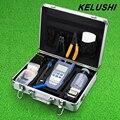 Kit de Ferramentas De Fibra Óptica FTTH KELUSHI FC-6S Fibra Cutelo Fibra Óptica Power Meter 1 mW Visual Fault Locator Cabo Cortador Stripper