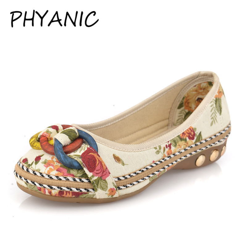 PHYANIC New 2018 Women's Loafers Women Shoes Lady Rings Flat Shoes Woman Summer Flats Casual Shoe Ballet Ballerinas PHY3282 drfargo spring summer ladies shoes ballet flats women flat shoes woman ballerinas pointed toe sapato womens waved edge loafer