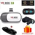 VR BOX II V2 Люнет Виртуальная Реальность 3D Очки Очки Google картон 2.0 3 D Vrbox Дистанционного Геймпад для iPhone Samsung Android