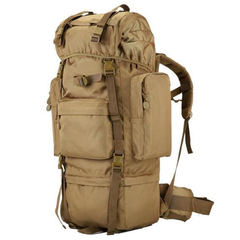 Men 70 Litres Of Nylon Backpack Waterproof Large Capacity Travel Military Backpack Leisure  Multifunctional High Grade Bags