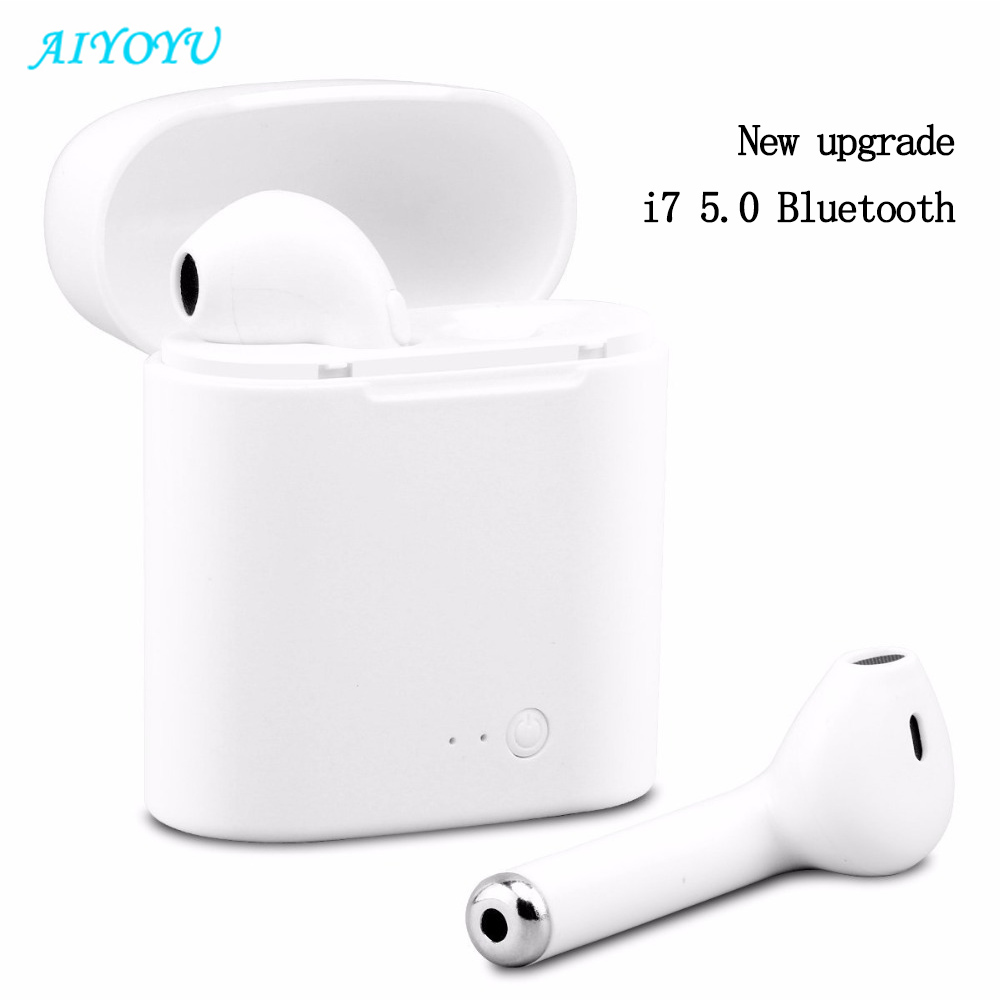 I7s TWS Mini Wireless Bluetooth Earphone Stereo Earbud Headset With Charging Box Mic For Huawei Xiaomi All Smart Phone(China)