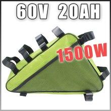 60V 20AH Треугольники литиевая батарея электрического велосипеда пакет 60V 1500W Байк, способный преодолевать Броды Батарея