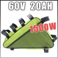 60 В 20AH Треугольники Электрический велосипед литиевая батарея 60 В 1500 Вт E велосипед Батарея