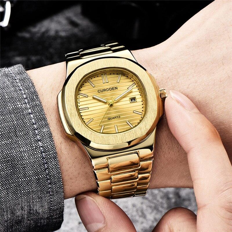 CURDDEN Relogio Masculino Mens Watches Top Brand Luxury  Simple Montre Homme Luxe Grande Marque Fashion Zegarek Meski@50