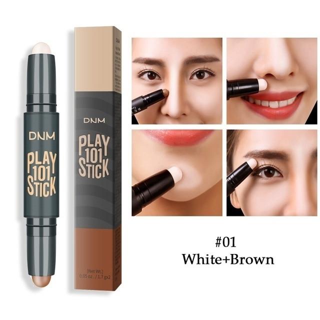 Makeup Base Contour Eyes Concealer Cream Stick Bronzer Cover Dark Circle Highlighter Skin Brighten 2 Colors Make Up Primer 5