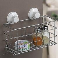 TSSAAG New Bathroom Storage Holder Kitchen Spice Gripper Jar Shelf Rack Washroom Organizer with Sucker