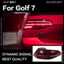 АКД стайлинга автомобилей для VW Golf 7 задние фонари 2013-2017 Golf7 Mk7 светодиодный задний фонарь светодиодный DRL динамичного Стоп сигнал заднего хода авто аксессуары