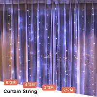 3x3 LED Ghiacciolo Luce Fata Spina di UE Garland Tenda Led String Lampada Di Natale Outdoor/Decorazione Interna per di natale di Cerimonia Nuziale Hallowen
