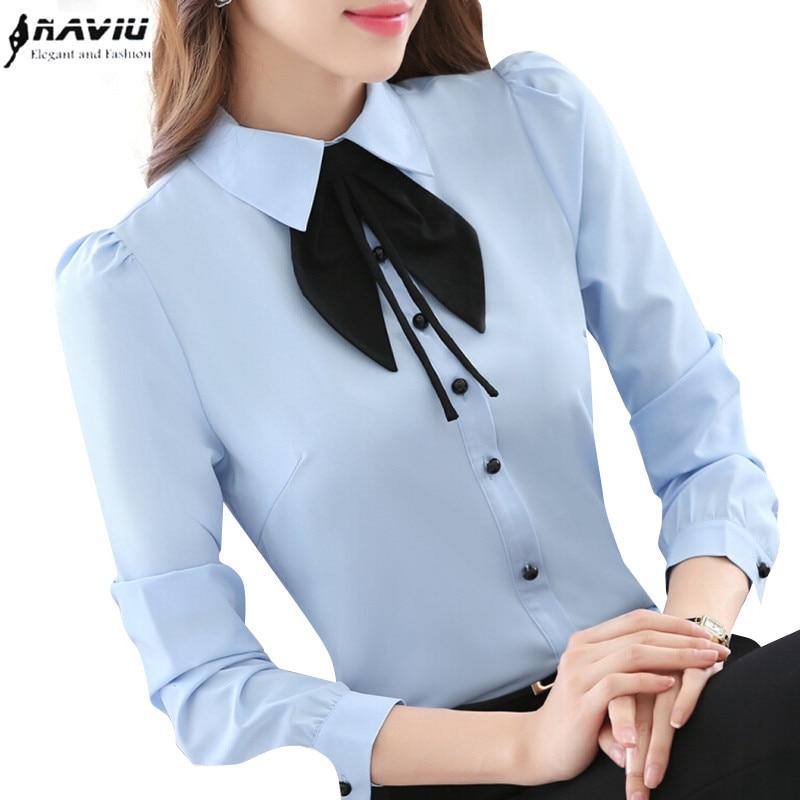 Bow Tie Blouse Plus Size