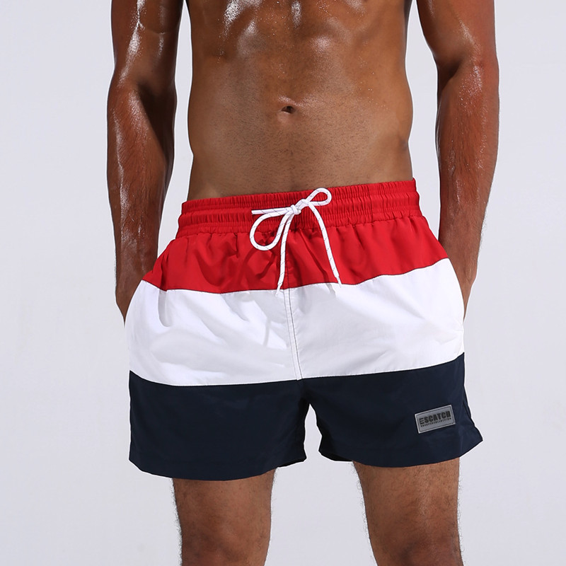 KWAN.Z swimwear men quick-drying pants beach shorts mens swim summer beach surf