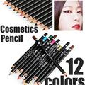 BLUEFRAG Professional Eyes Makeup 12 Colors Eyeliner Pencil Waterproof Colorful Brand M.N Cosmetics ELMN710
