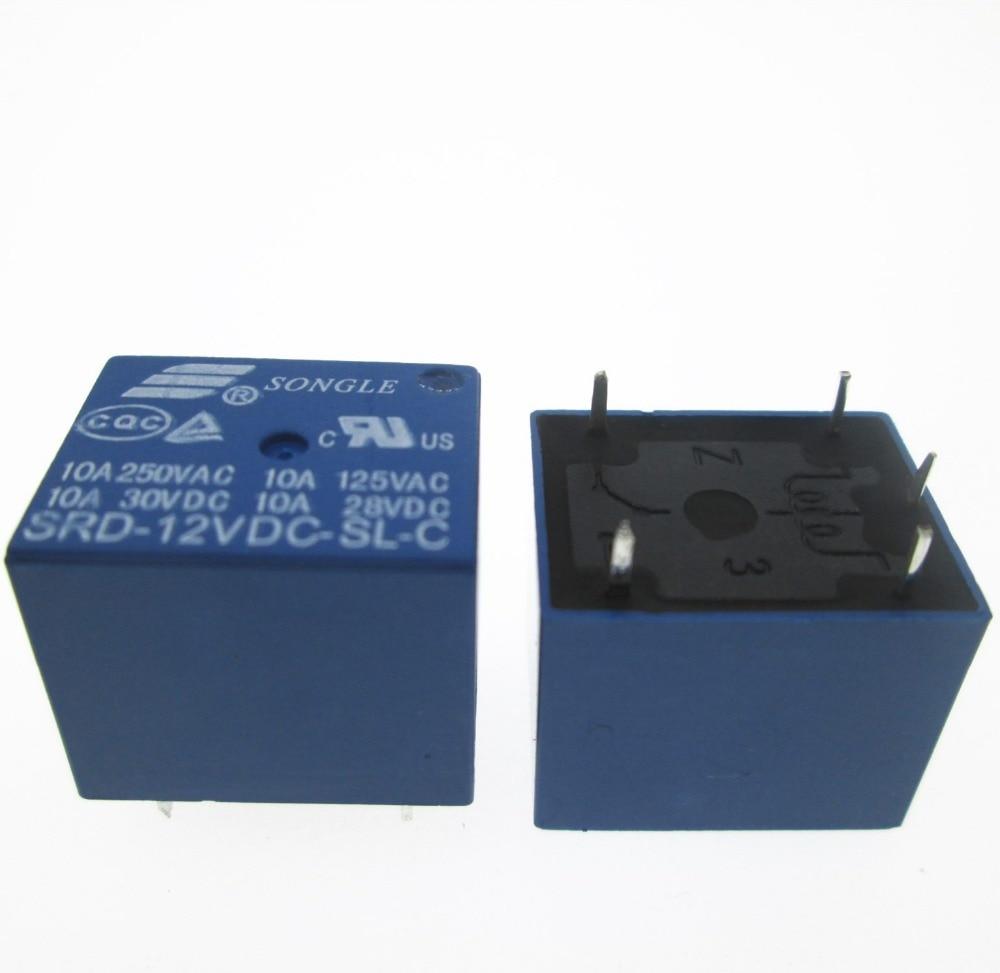 Лидер продаж, новинка, 12 V реле SRD-12VDC-SL-C SRD-DC12V-SL-C SRD12VDCSLC 12VDC DC12V 12 V 10A 250VAC 5PIN