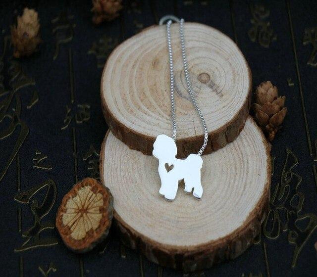 Колье bichon frise милая Подвеска для домашних животных позолоченные