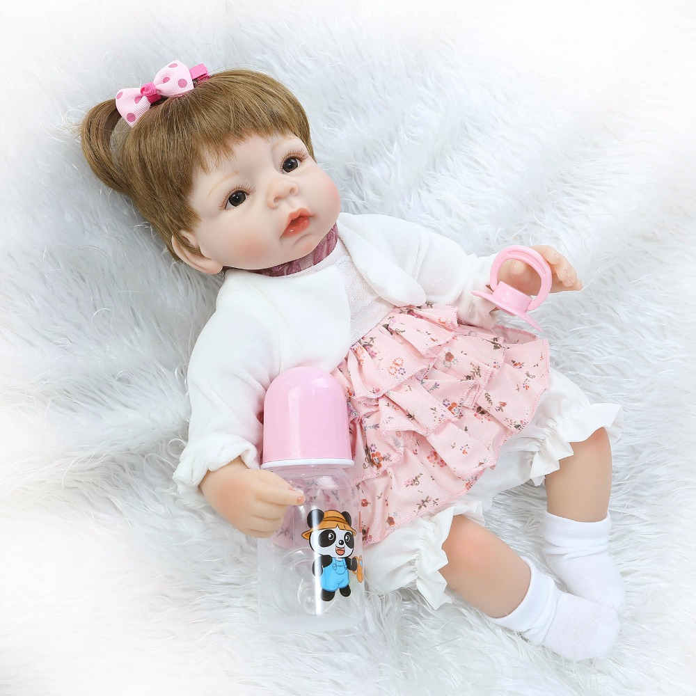 ФОТО 40cm Silicone Reborn Baby Doll kids Playmate Gift For Girls toys 16 Inch bebe Alive reborn boneca de pano Bouquets Doll
