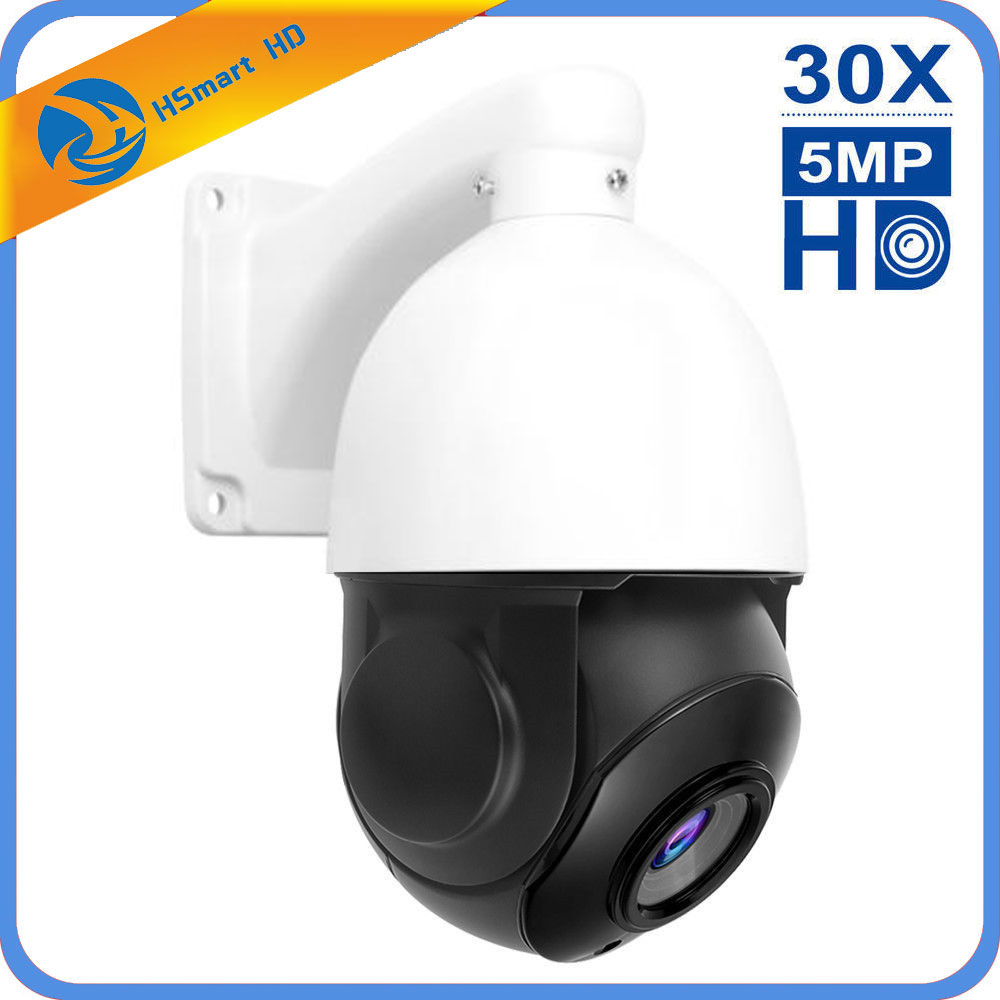 Caméra IP PTZ POE 5MP Super HD 2592x1944 panoramique/inclinaison 30x Zoom vitesse dôme caméras H.264/H265 Compatible avec Xmeye 48V POE NVR