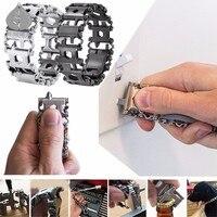 Wearable Stainless Steel Bracelet Tool Multi Purpose Wristband Screwdriver Metal Bracelet Tool