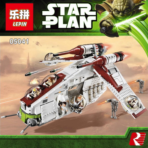 2018 LEPIN 05041 1175Pcs Genuine Star Series War UCS The Republic Gunship Set Educational Building Blocks Bricks 75021 for gift new lepin 05041 1175pcs stars republic set gunship model educational building kits blocks bricks compatible war toys gift 75021