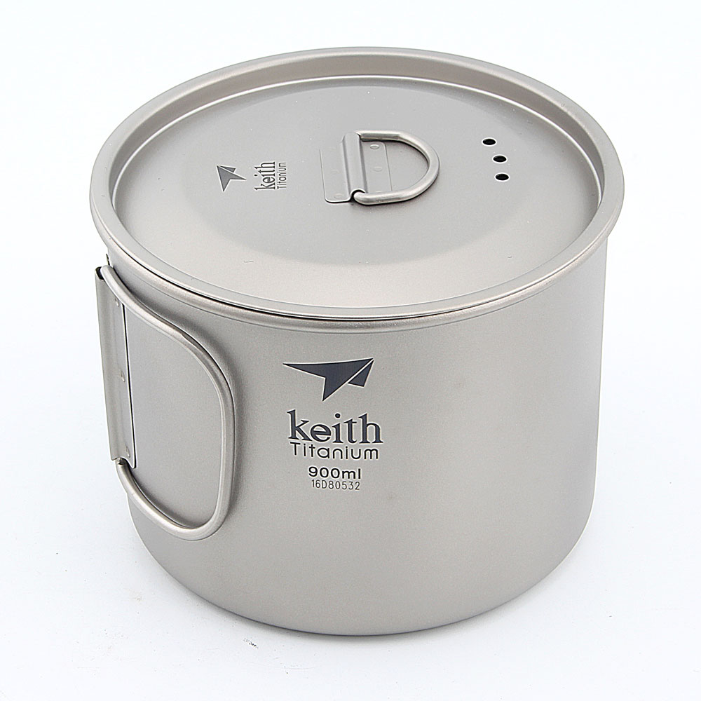 Keith Ti3209 Titanium Cup Ultralight Single Wall Vacuum Water Cup Camping tools 900ml keith double wall titanium beer mugs insulation drinkware outdoor camping coffee cups ultralight travel mug 320ml 98g ti9221