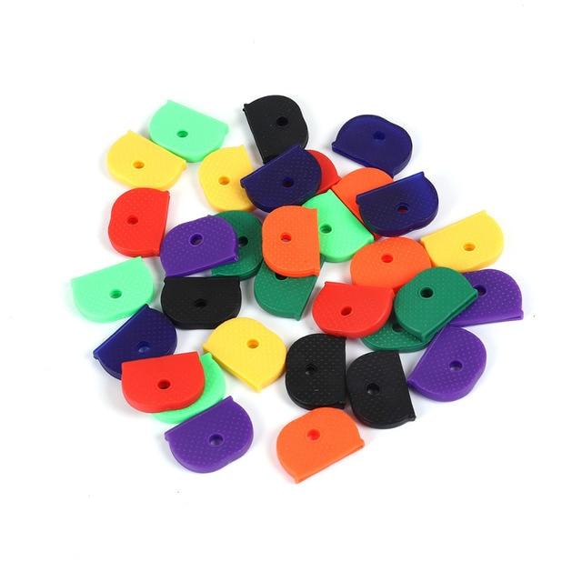 "Doreen Box Rubber Key Caps Half Round Multicolor At Random DIY Findings 25mm(1"")"