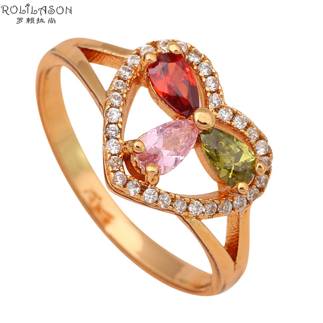 US $3 67 28% OFF|violetta Gold tone Color Crystal Fashion Jewelry Nickel &  Lead Free Golden Element Ring Sz #7 5 #7 25#6 75 #7 75 JR1827-in Engagement