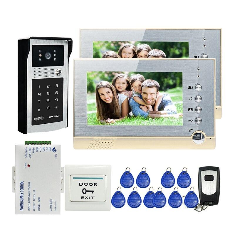 FREE SHIPPING New 7 LCD Screen Record Video font b Door b font Phone Intercom System
