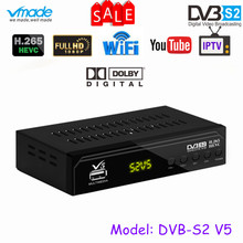 Vmade Volledig HD 1080 p Digitale Satelliet DVB S2 TV Ontvanger Tuner Ondersteuning Dolby AC3 CCCAM YouTube Bisskey H.265 HEVC DVB S2 TV Box