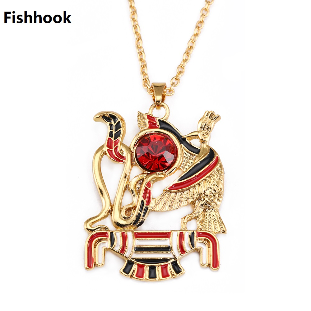 Fishhook Dropshipping Gold Color Egyptian Mythology Month/Mentu The God of  War Ancient Egypt Necklace Jewelry