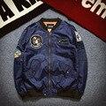 Новая Коллекция Весна MA1 Полета Пилот мужчины Пальто Kanye West Мужчины куртка hombre Наса Полет бомбардировщик Jaqueta Бейсбол Полета Куртка Размер XS-2XL