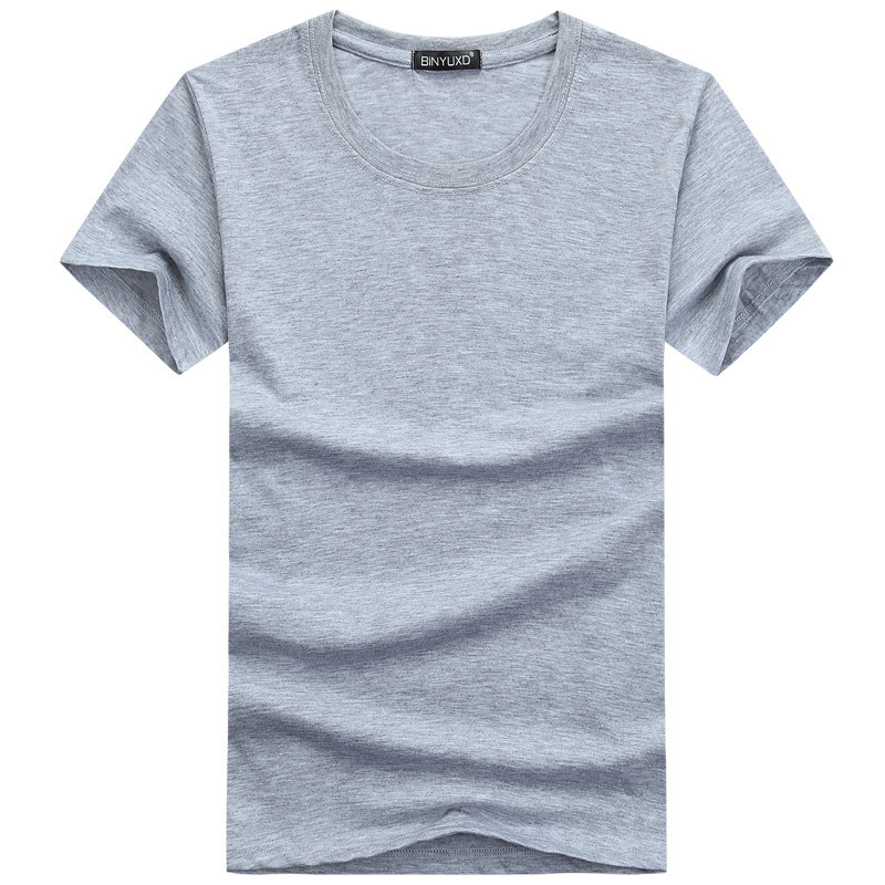 New Plain Solid Color Cotton Mens   T     Shirts   Slim Fit   T  -  shirts   Casual Summer Tops Tee   Shirts   for Boys Teens Man Clothing 4XL 5XL