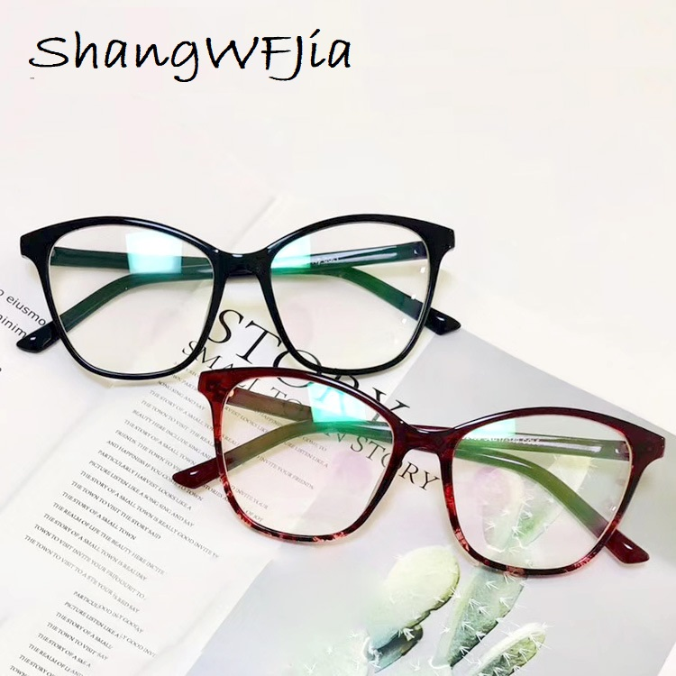 Fashion Cat Eye Frames Eyeglasses Brand Design Women Transparent Frame For Men Big Frame Eye Galses Female Clear Lens Spectacle