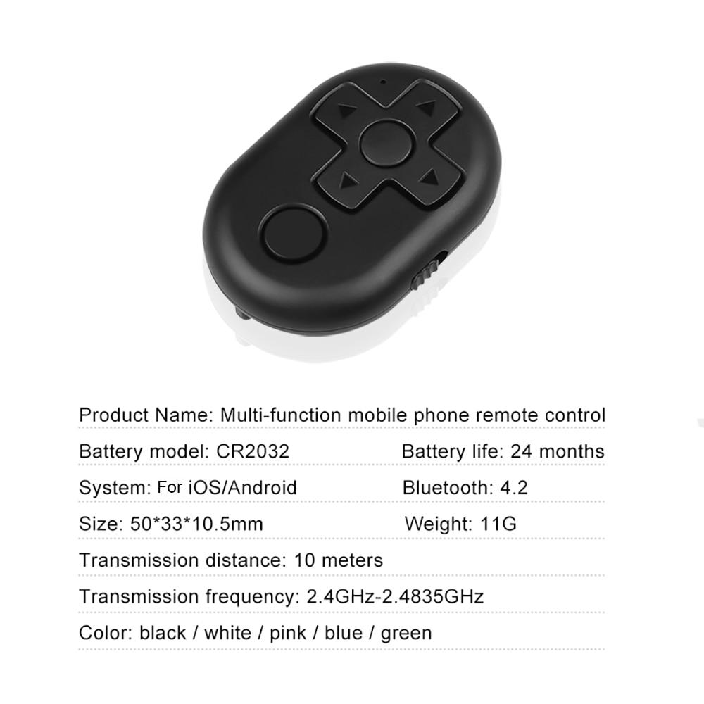 Kebidu Bluetooth телефон Автоспуск кнопка спуска затвора для iPhone 7 палка для селфи с затвором релиз беспроводной пульт дистанционного управления для samsung