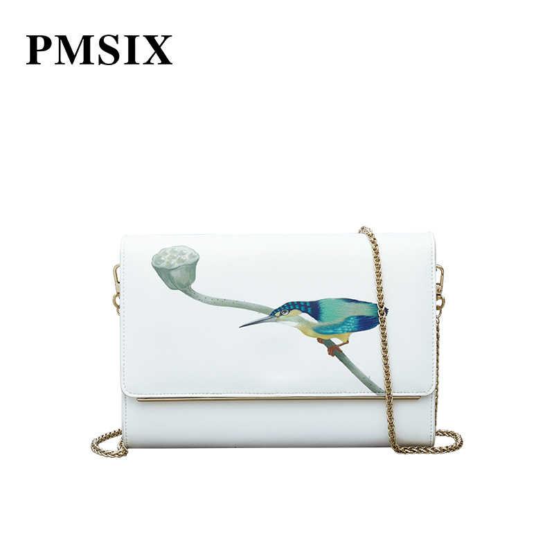 Pmsix 2019 Модная брендовая дизайнерская женская сумка из спилка высокого качества из натуральной коровьей кожи, маленькая сумка-клатч с цепочкой