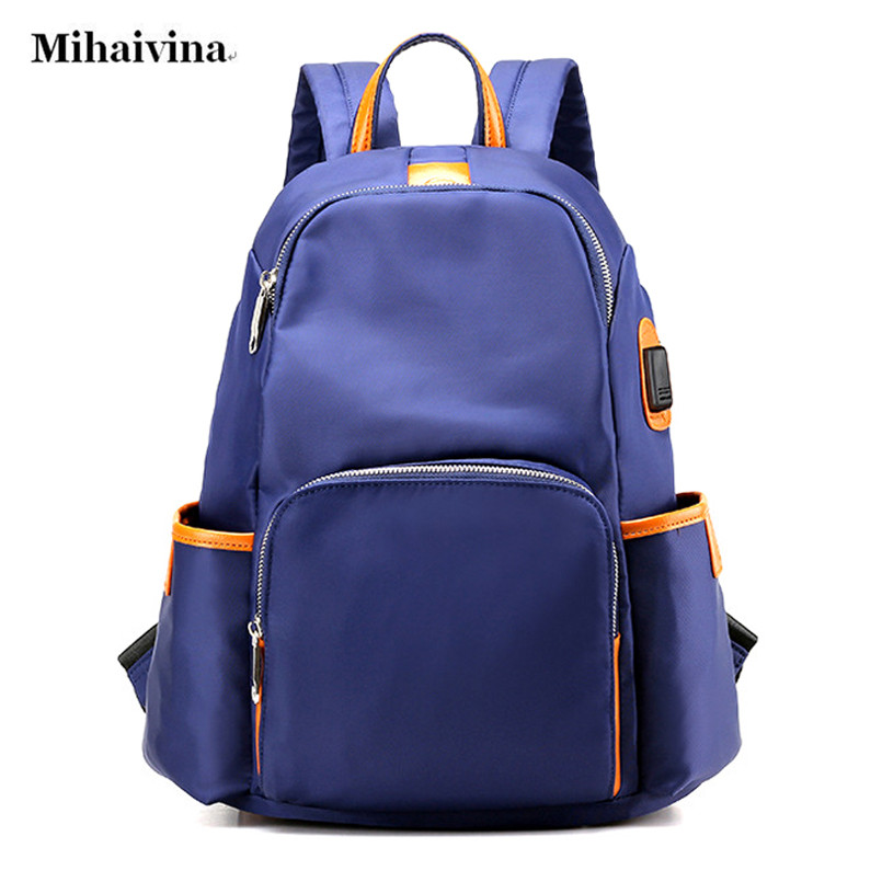 Korea Style Fashion Canvas Solid School Bag Backpack For Women Young Girl Hot Big Capicity Bags