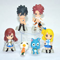 New 6Pcs/Set Anime Cartoon Character Fairy Tail Natsu Gray Lucy Erza Collection Figure Action Doll Toys Great Gift for children