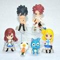 Novo 6 Pçs/set Personagem de Desenho Animado Anime Lucy Erza Fairy Tail Natsu Cinza Coleção Action Figure Boneca Brinquedos Grande Presente para crianças