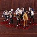 König von POP Jackson Schwarz oder Weiß Smooth Criminal Die Welt Tour Gefährlich MJ Action Figure Sammeln Modell Spielzeug 5 teile/satz|Action & Spielfiguren|   -