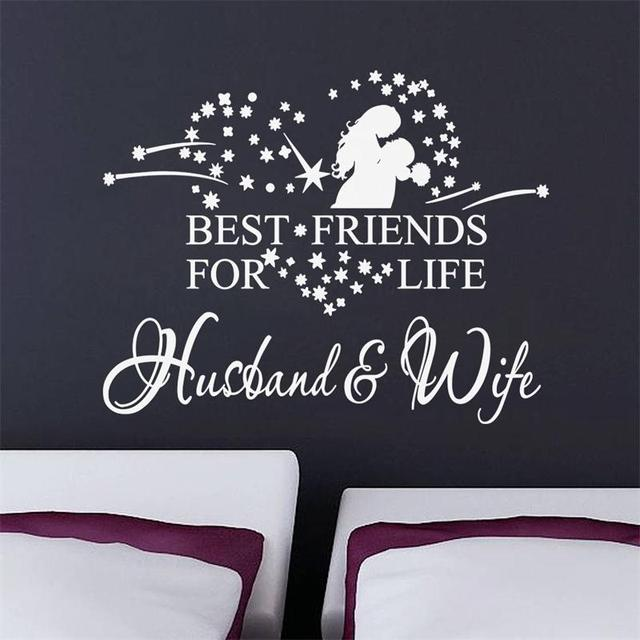Husbandwife wall sticker quotes vinyl wall decal home decor 8385 husbandwife wall sticker quotes vinyl wall decal home decor 8385 remonable wallpaper wedding decoration vinyl wall junglespirit Choice Image