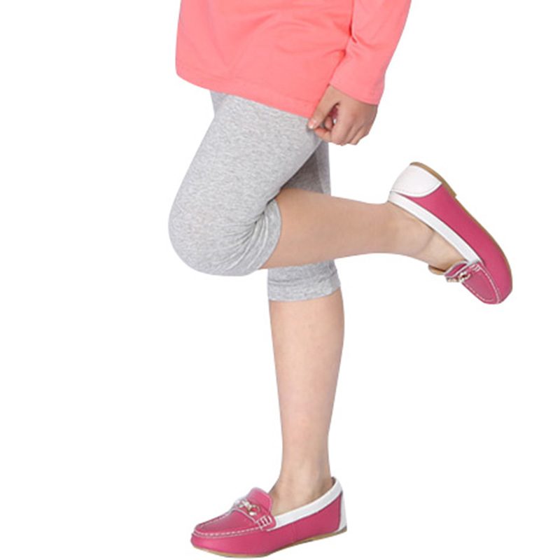 Candy Color Baby Kid Girl Cotton Stretch Skinny Leggings Summer Casual Capris Pant 2-7 Years old
