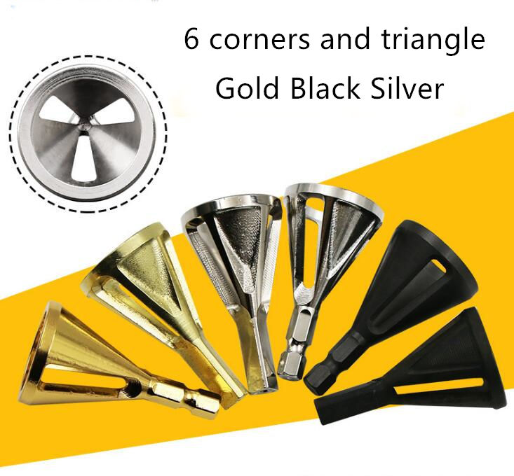 6kinds Hex Stainless Steel Durable Remove Burr External Chamfer Deburring Tool