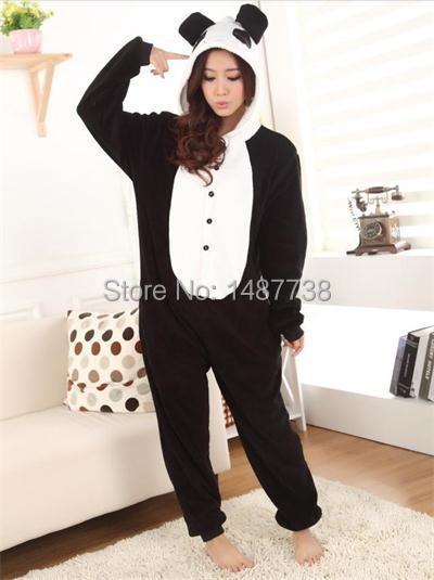 Панда снежная Панда Onesies пижамы мультфильм косплей костюм пижама для взрослых  животных Onesies для ну вечеринку 6c5dae60721a8