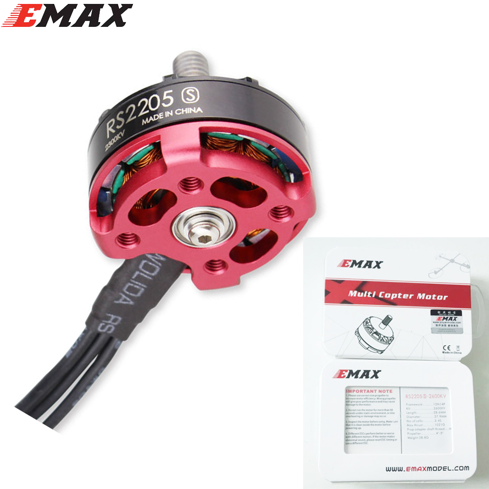 1pc Original Emax RS2205S 2600KV Brushless Motor For FPV Racing Quad upgraded version of RS2205+ Retail box feed motor board for roland rs 640