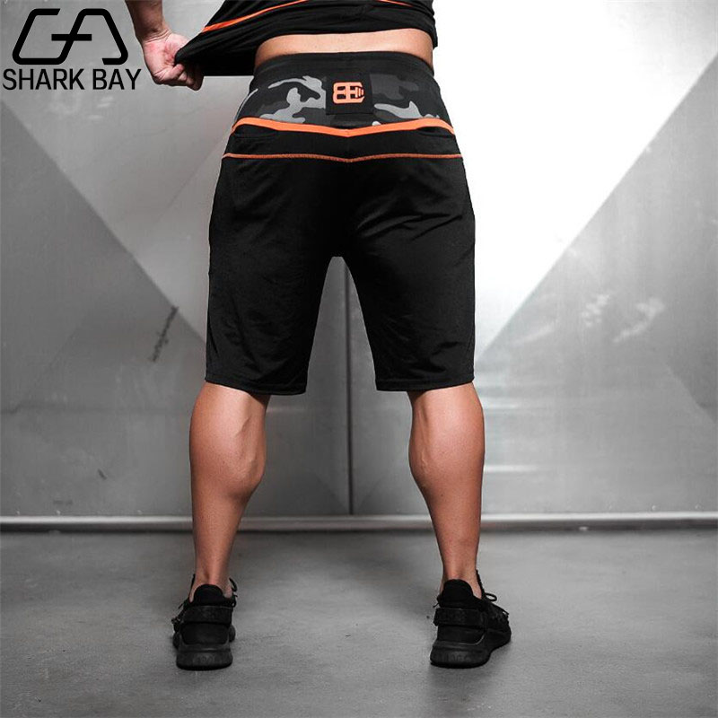 2018 Brand Mens New Engineers Compression Gyms Shorts Summer Bermuda Fitness Men Bodybuilding Body Casua