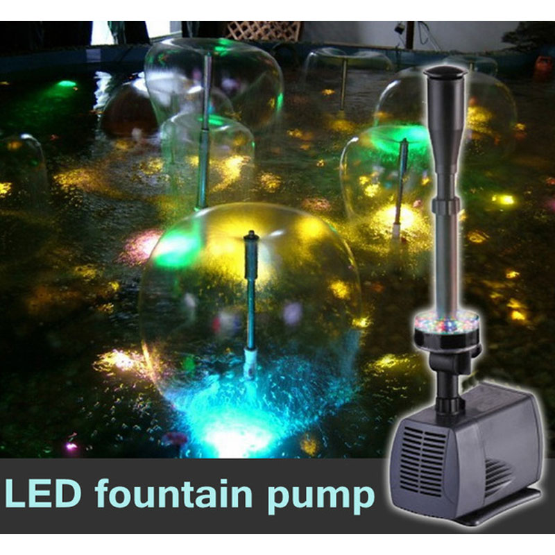 LED Flashing Light 40W/45W/75W/85W Submersible Water Pump Fountain Pump Fountain Maker Fish Pond Garden Pool