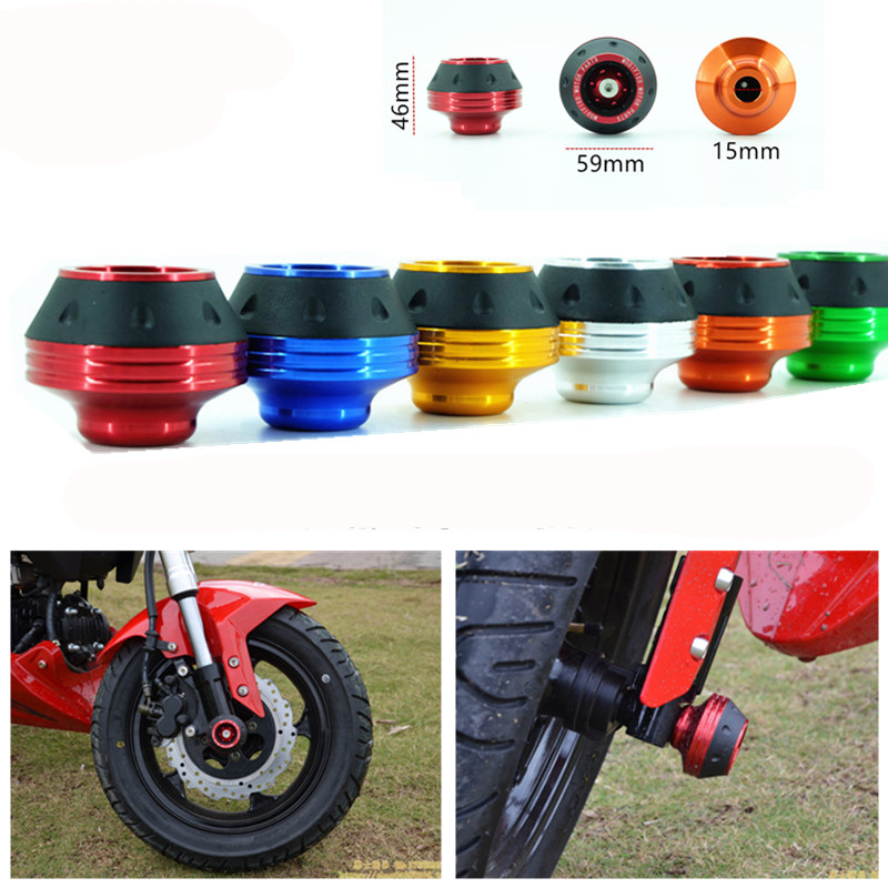 RPMMOTOR motorcycle Falling Protection for KTM motocross crash pad colorful motorbike frame slider Protect Front Rear Fork Wheel