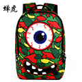 Creative niños gráficas/portátil niñas niños mochila mochila para niños individual eye impresión gráfica