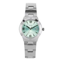 Casio horloge vrouwelijke eenvoudige stalen riem licht groen kleine plaat quartz dames horloge LTP-1241D-3A