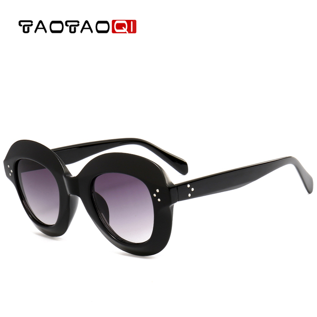 TAOTAOQI Plastic Oval Rivet Large Frame Sunglasses Women Brand Designer Luxury Fashion Retro Sun Glasses Eyewear UV400 oculos