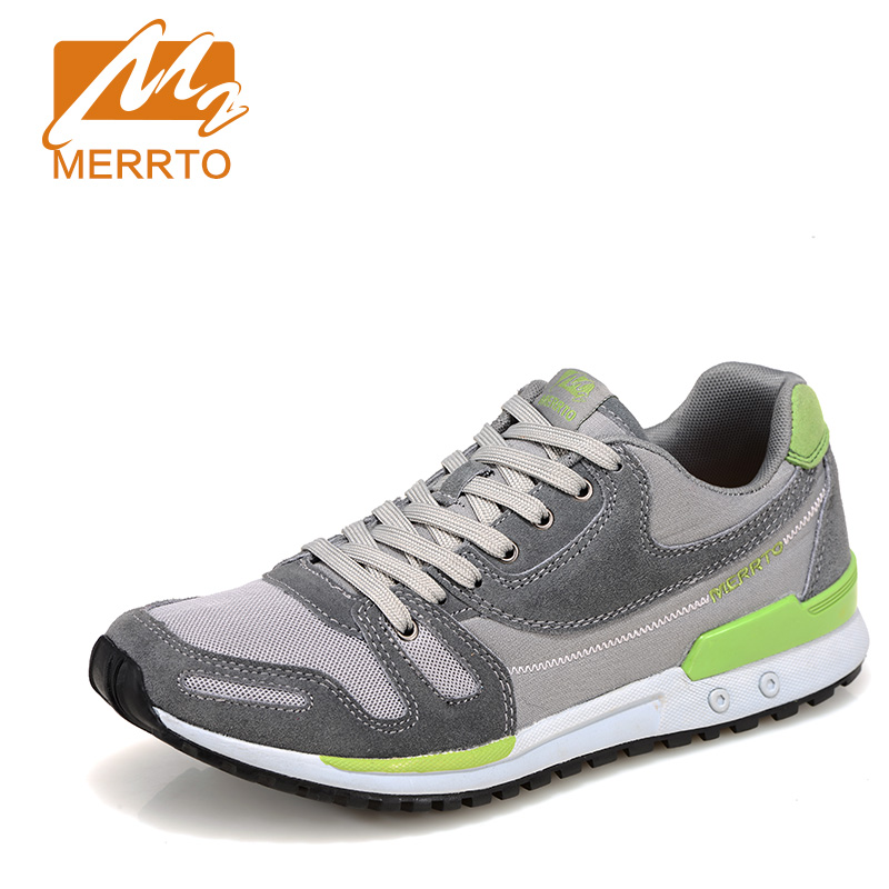 ФОТО 2017 Merrto Men Walking Shoes Outdoor Sports Sneakers Suede Mesh For Men Free Shipping MT18575