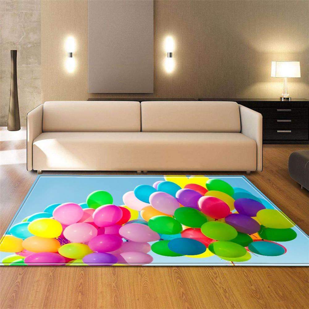 Modern 3D Colorful Balloons Carpets Living Room Decoration Area Rug Soft Flannel Kids Play Mats Rugs Bedroom Bedside Carpets|Carpet| |  - title=
