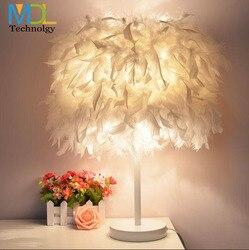 Pióro LED tabeli lampa do sypialni lampka nocna lampka nocna światła za pomocą przełącznika atmosfera lampka nocna snu oświetlenie romantyczny Luminarias